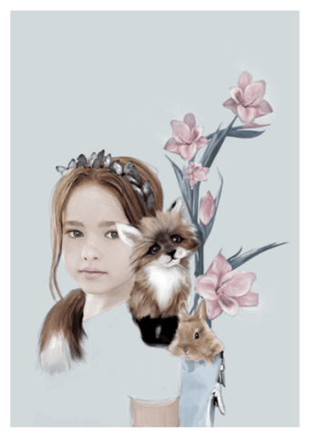 Little Tyra Print - Children's wall art - $69 - $129 |My House Loves