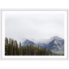 Love your space Winter Rockies photographic print styled |The Home Maven