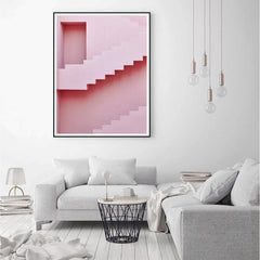 Photographic Print - Pink Stairs no.1