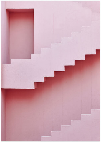 Love your space photographic print pink stairs |The Home Maven