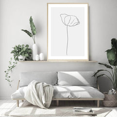 Love your space Simplicity no. 2 Print flower sketch | Various Sizes | The Home Maven