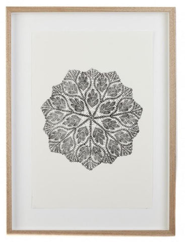 Lumiere and co Ainsa Mandala Print oak framed - Wall Art|The Home Maven