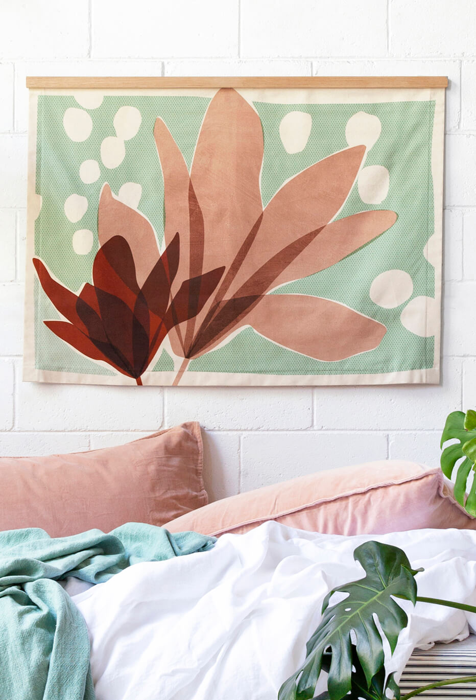 Magnolia - Fabric Wall Hanging - $295 |My House Loves