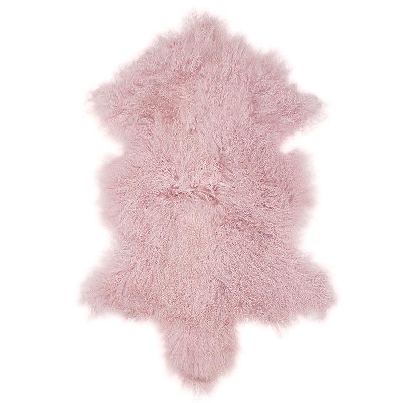 Blush Mongolian lambswool rug $169.95 |The Home Maven