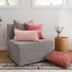 Rosewater Velvet Cushion - Homewares - $59.95 |The Home Maven