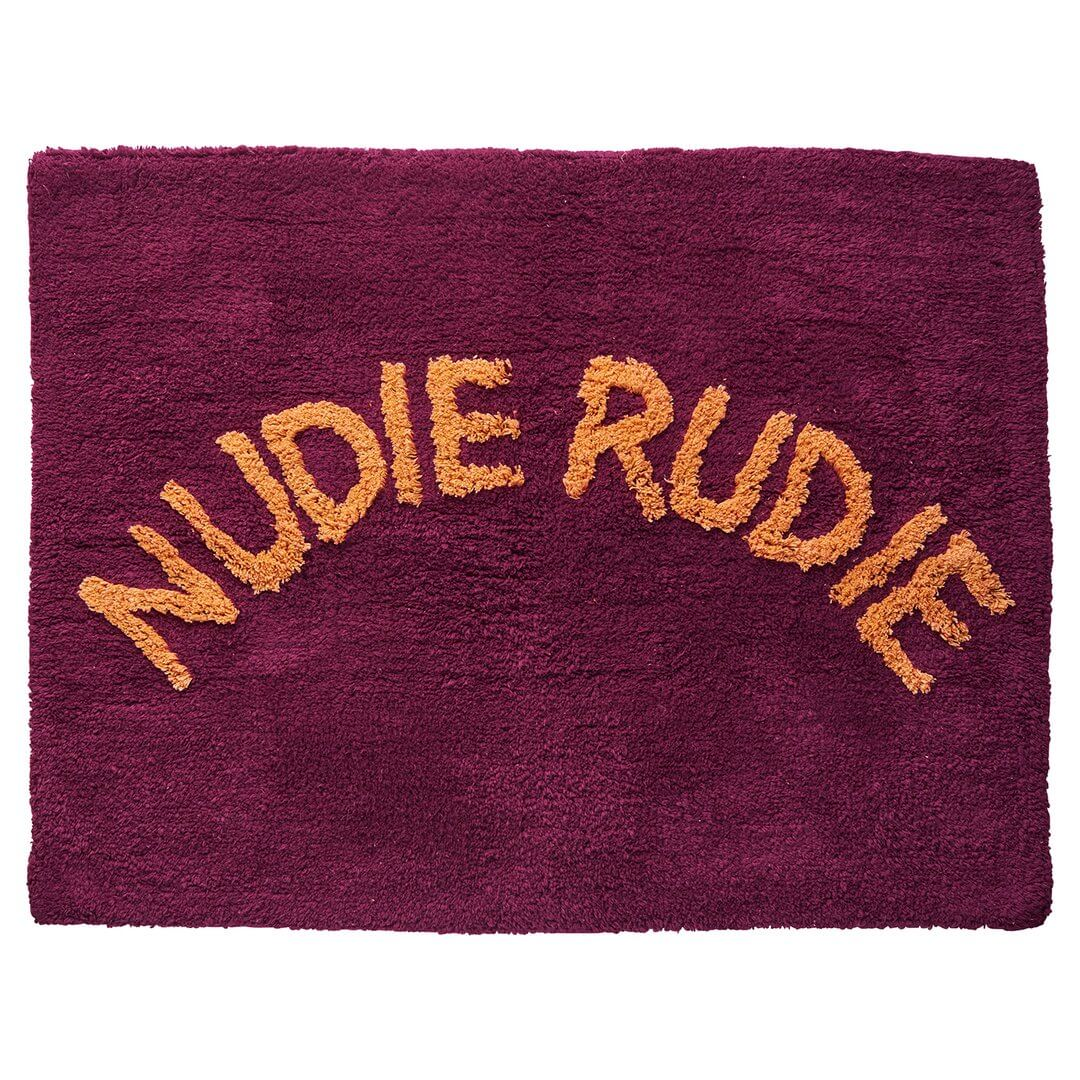 Sage and Clare Nudie Rudie bath mats Boysenberry | The Home Maven