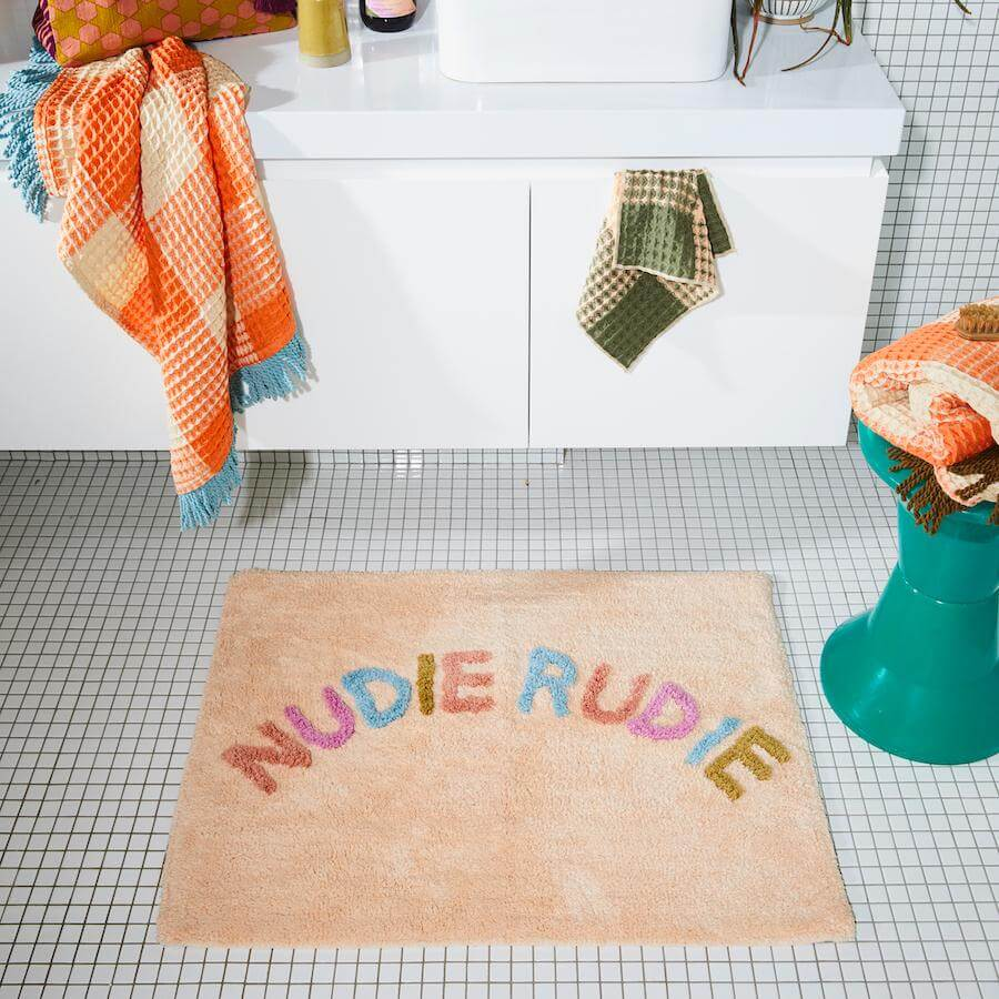 Sage and Clare Nudie rudie bath mat - Tigre | The Home Maven