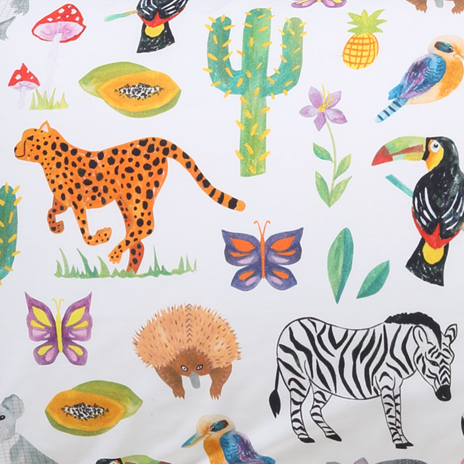 In the Jungle Cotton Flat Sheet