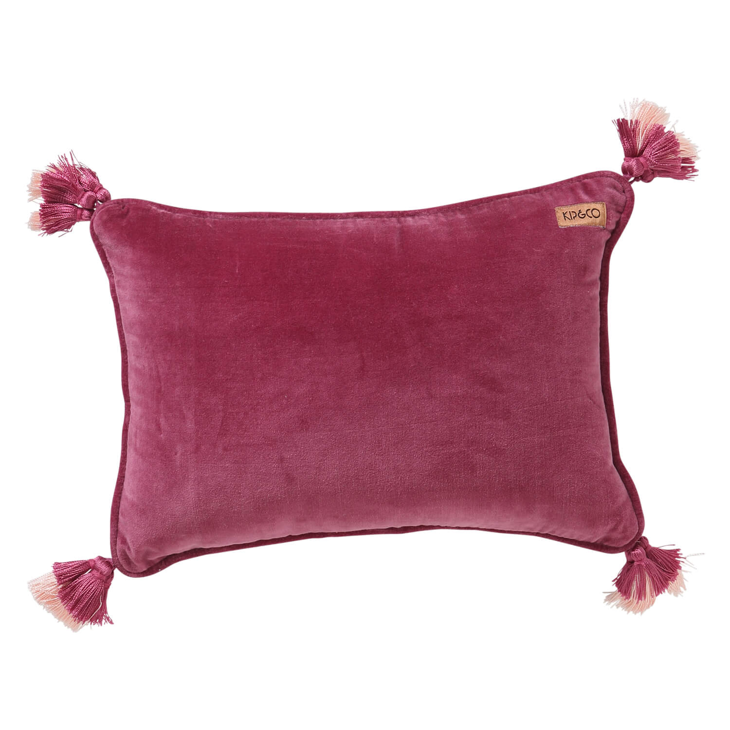 Kip and co Velvet Souk Cushion - Peony rose pink | The Home Maven