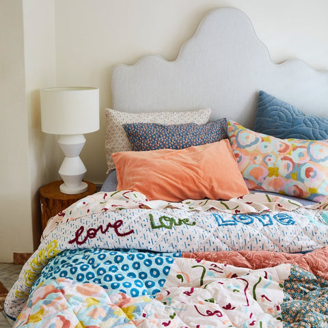 Sage and Clare Sabine velvet pillowcase | The Home Maven