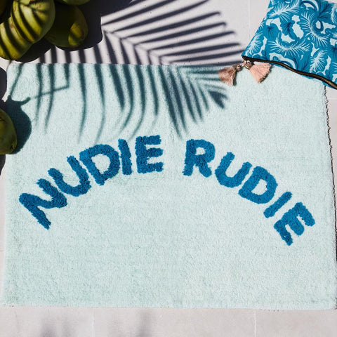 Sage and Clare Nudie Rudie mint bath mat | The Home Maven