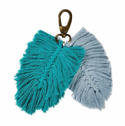 Sage and Clare Sienna macrame key ring | My House Loves