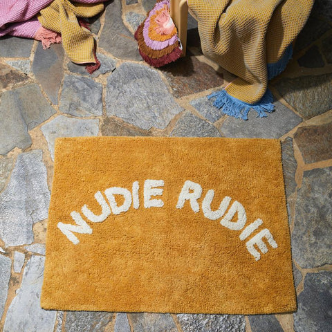 Sage and Clare Nudie rude bath mat dandelion | The Home Maven
