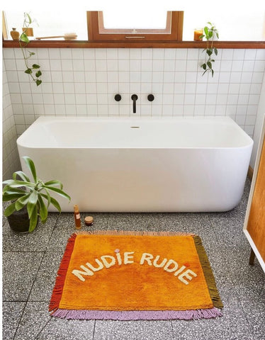 Sage and clare nudie rudie xmas bath mat yellow | The Home Maven
