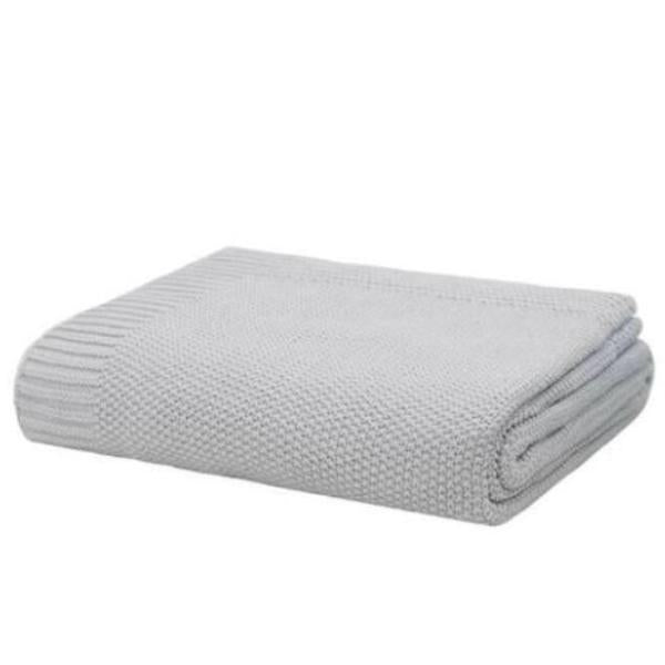 Soft knitted throw rug silver -|Blankets and Throws |$79.95 |The Home Maven