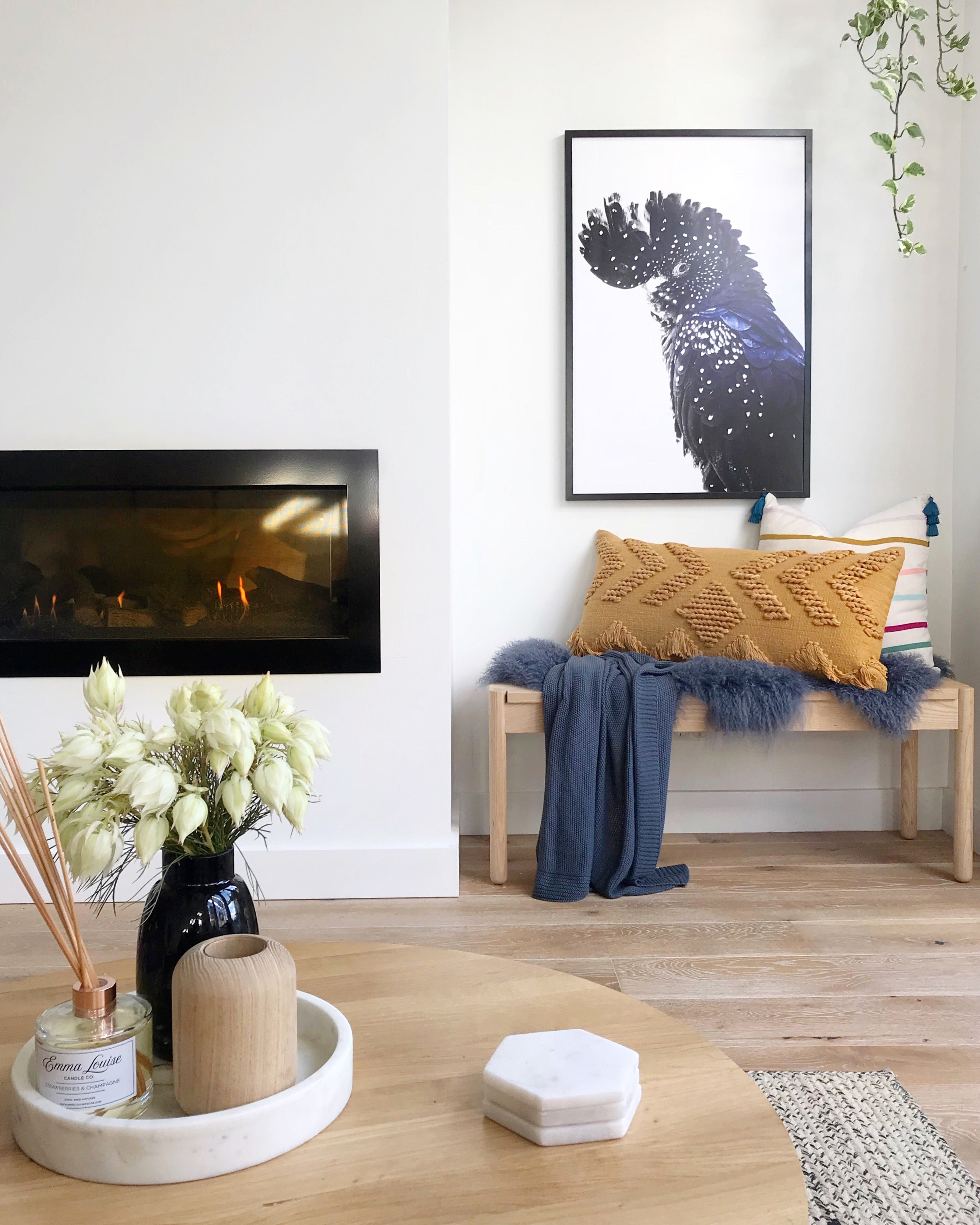 Soft knit throw denim - Homewares $79.95 |My House Loves