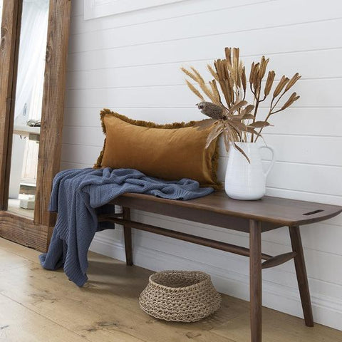 Soft knit throw denim - Homewares $79.95 |The Home Maven