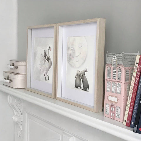 Children's Wall Art - The Swan and the Moon Print - $49.95 - $79.95 |My House Loves