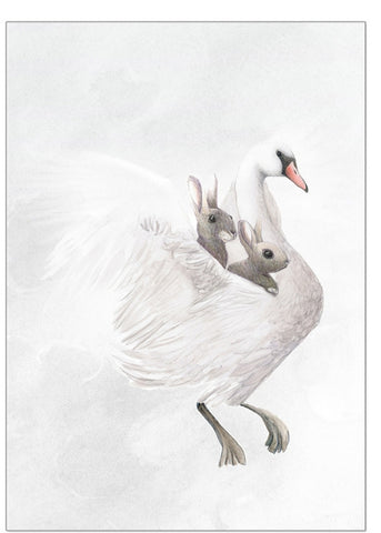 The Swan and the Moon - Children's Wall Art - Winter Avenue Press