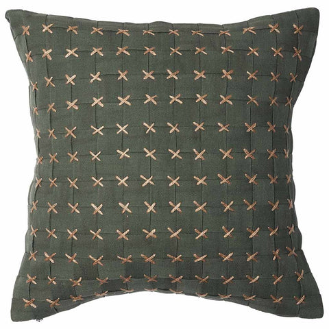 Eadie Flette khaki feather filled cushion |$109.95 |The Home Maven