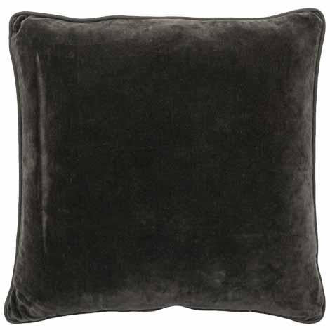 Lynette Feather Filled Velvet Cushion - Coal - $89.95 |The Home Maven