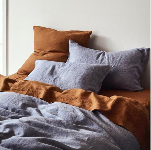 Linen Standard Pillowcase Set - Chambray - $85 - My House Loves