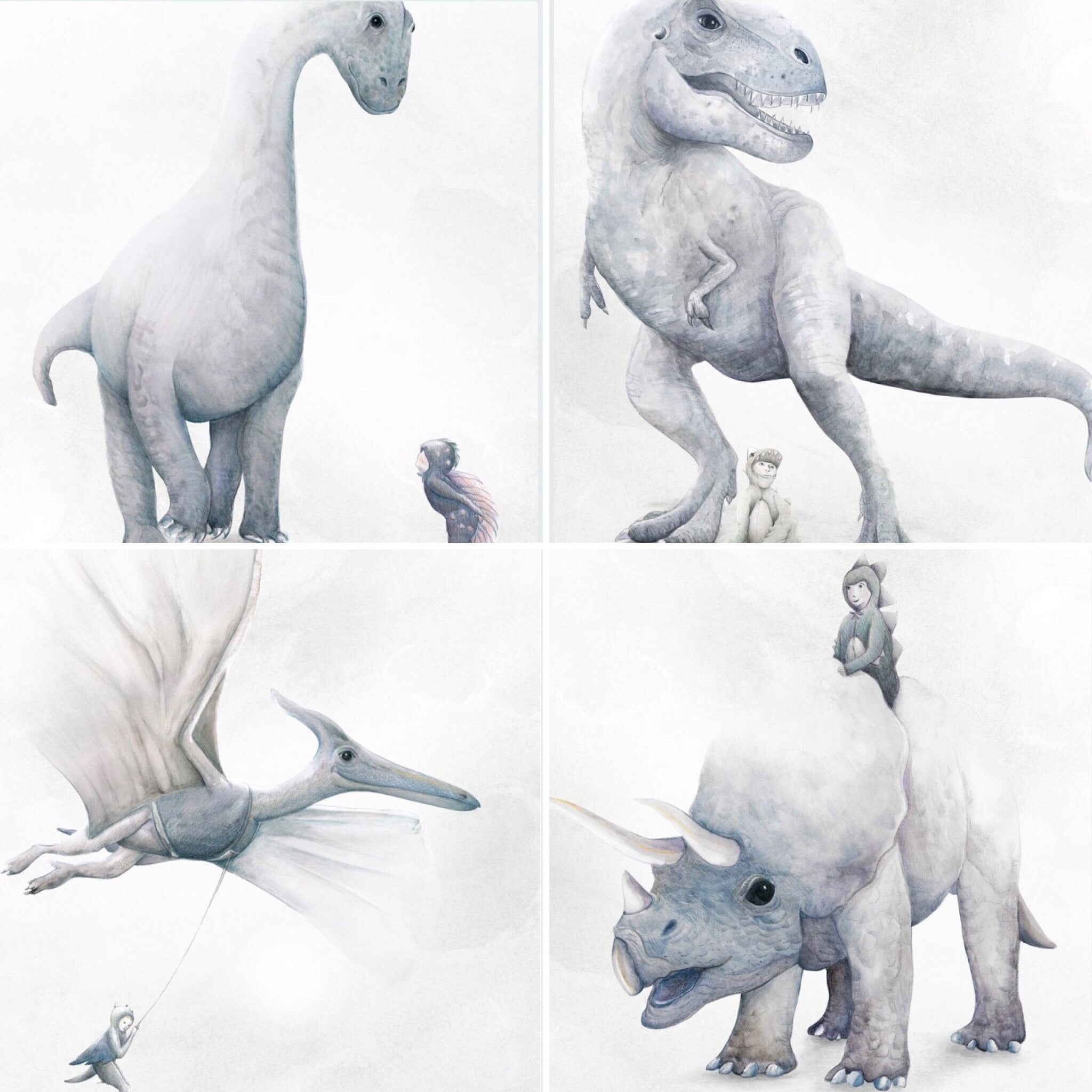 I Dream of Dinosaurs four print series - $49.95 - $79.95 |The Home Maven