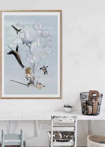 Little Oliver Print - Children's wall art $69 - $129 | My House Loves