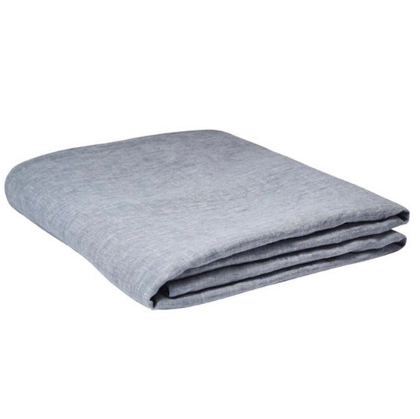 Linen flat sheet Chambray - Adult Bedding - $179 - $189 - My House Loves
