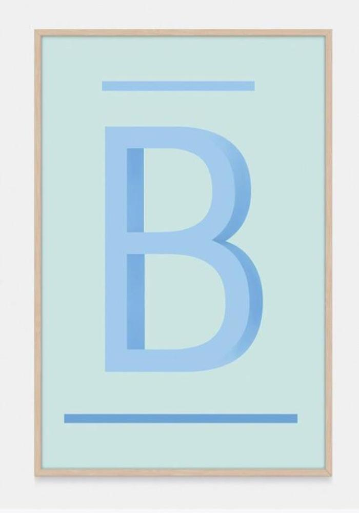 ABC Art Prints - Blue B - $49 - $140 |My House Loves