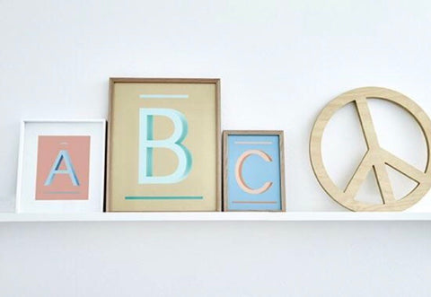 ABC Art Prints - Green B -  Children's wall art $49 - $140 |My House Loves