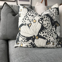 Flutterby cushion cygnet grey feather filled |$59.95 | The Home Maven