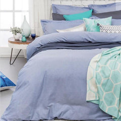 Chambray blue cotton euro pillowcase |$24.95 | The Home Maven