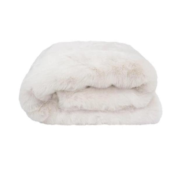 Faux faux throw Ivory - $159.95 - My House Loves