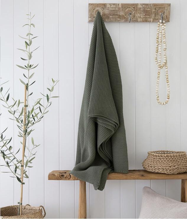 Soft Knitted Throw Rug - Olive - $109.95 | My House Loves