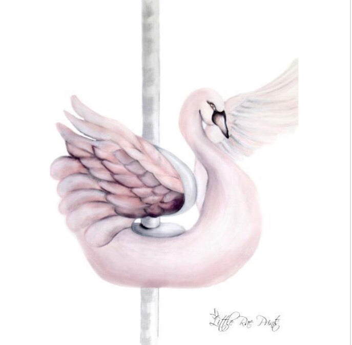 Carousel Swan - Children's wall art - $30 - $85 |The Home Maven