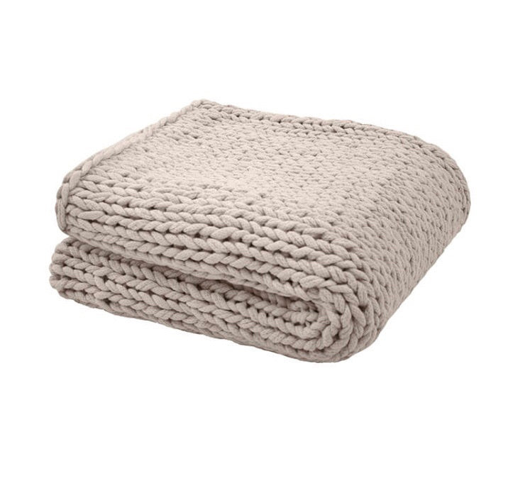 Chunky Knit Throw - Pebble - $139.95 - My House Loves