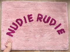Sage and Clare Nudie Rudie Blush bath mat | The Home Maven