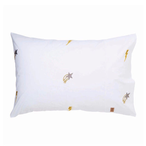 Kip and co Out of Space white Cotton Pillowcase | The Home Maven