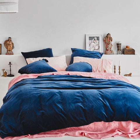Velvet Pillowcase Set- Petrol Blue - $99 |My House Loves