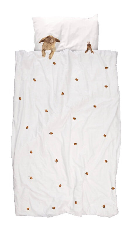 Snurk Quilt Cover - Furry friends - Children's bedding -  $125 |The Home Maven