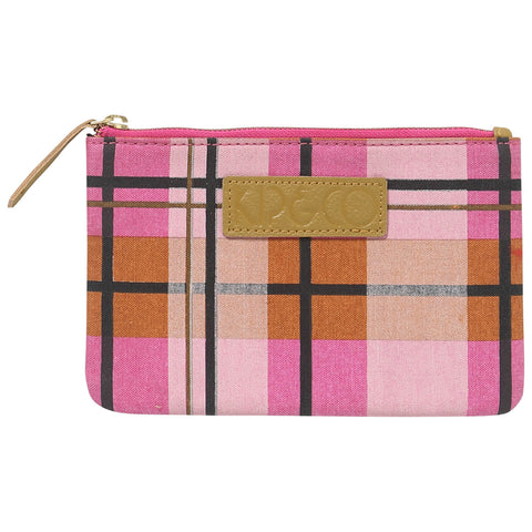 Kip and co tartan cosmetic purse - marmalade magenta| The Home Maven