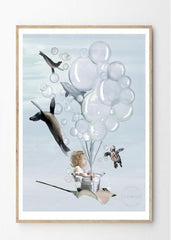 Little Oliver Print - Children's wall art $69 - $129 | The Home Maven