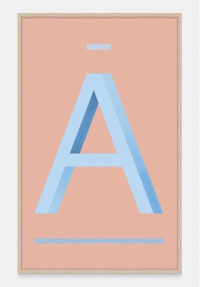 ABC Art Prints - Blue A -  Children's wall art $49 - $140 |My House Loves