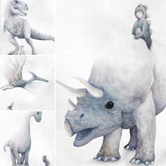 Winter Avenue press I Dream of Dinosaurs four print series | The Home Maven