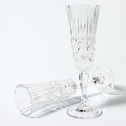 indigo love pavillion champagne flute | The Home Maven