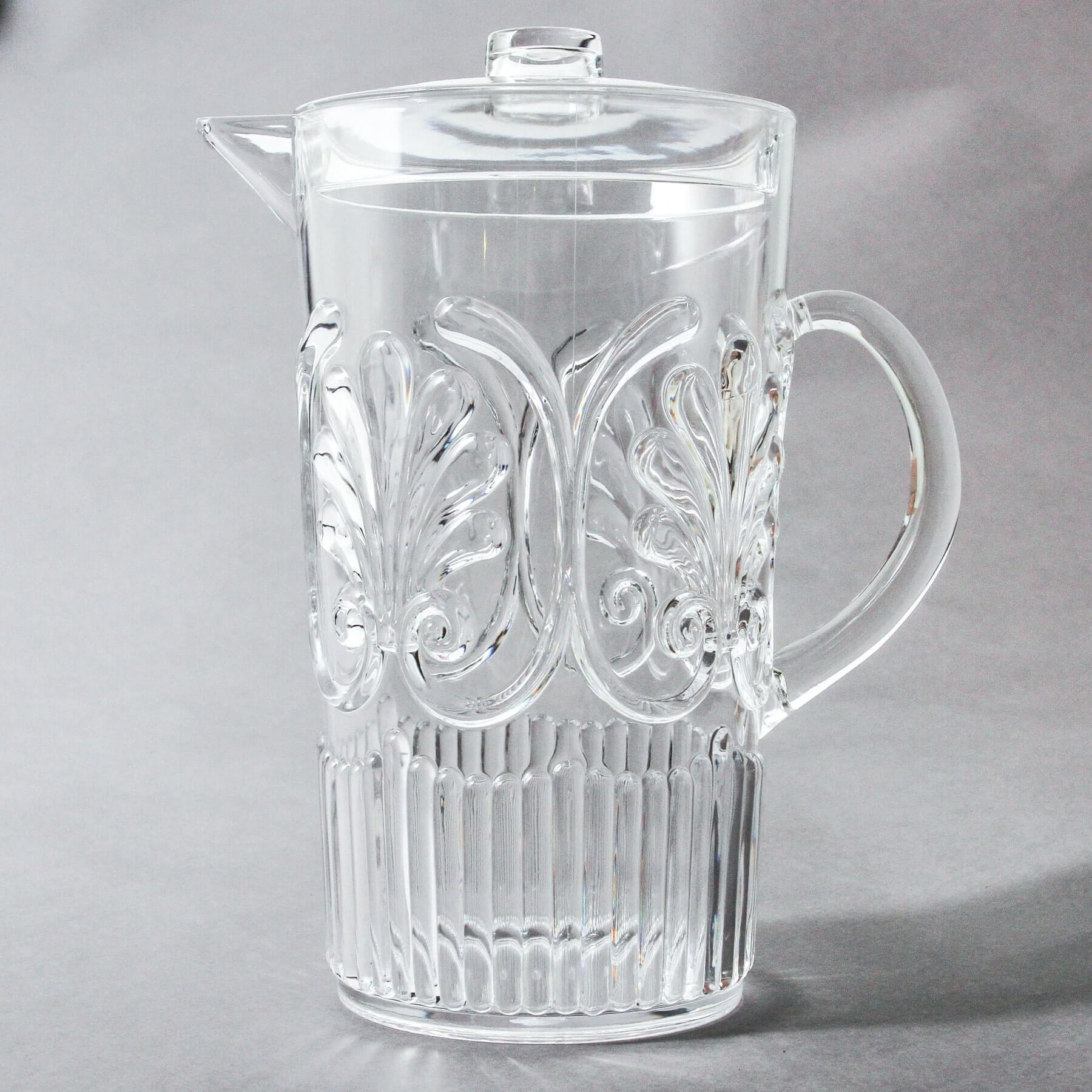 indigo love flemington acrylic jug clear | The Home Maven