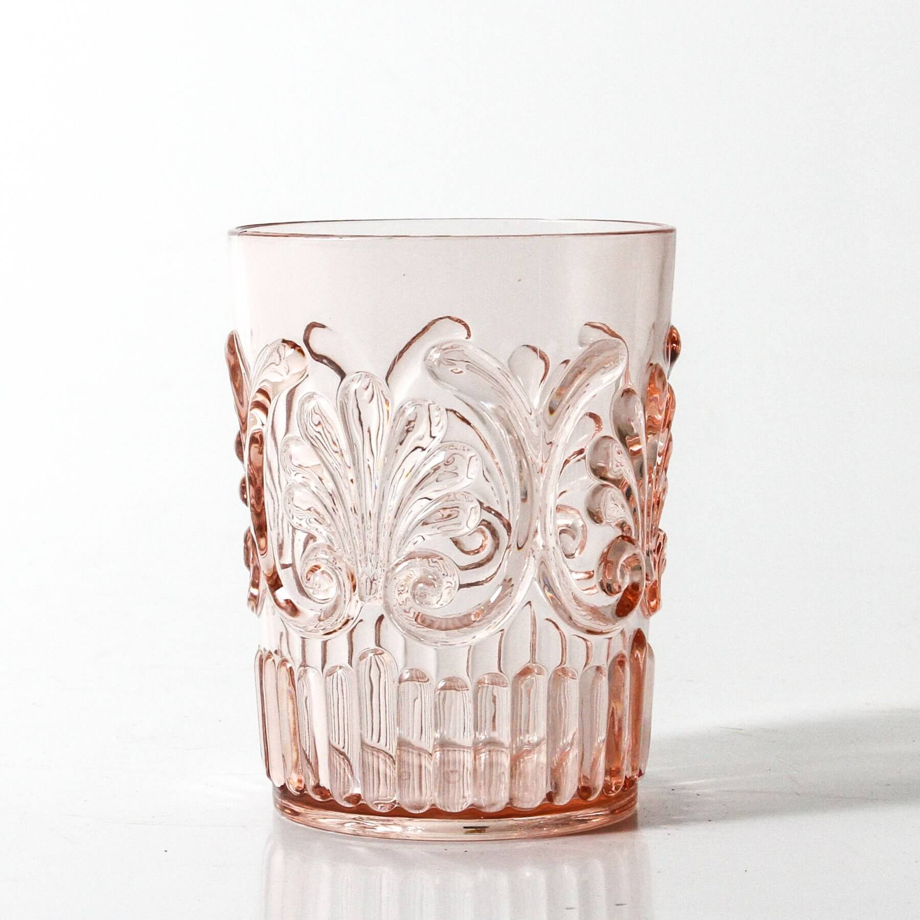 indigo love tumbler acrylic pale pink | The Home Maven