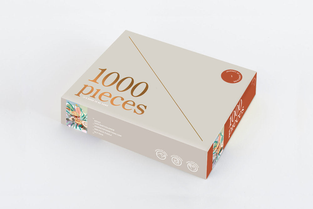 Journey of Something 1000 piece Adult jigsaw puzzle - It's good to be home | $58 |The Home Maven