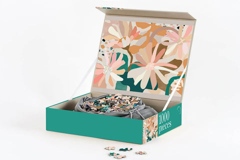 Journey of Something |flower bed 1000 piece puzzle box |The Home Maven